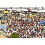 Puzzle 2000 pièces - Jan Van Haasteren : Hall des départs