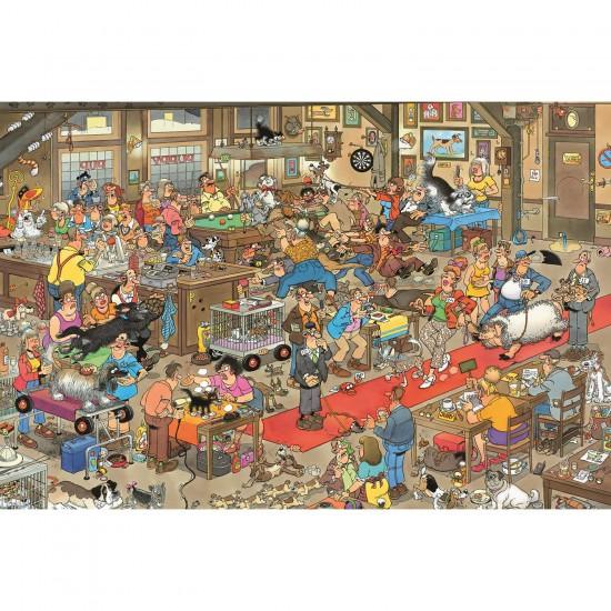 Puzzle 3000 pièces - Jan Van Haasteren : Concours canins - Diset-Jumbo-13076