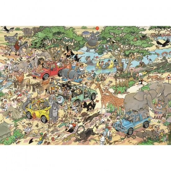 Puzzle 3000 pièces - Jan Van Haasteren : Safari - Jumbo-17017