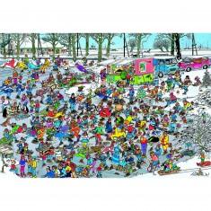 Puzzle 3000 pièces - Jan Van Haasteren : Sur la glace