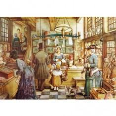 Puzzle 1000 pièces - Anton Pieck :  La boulangerie