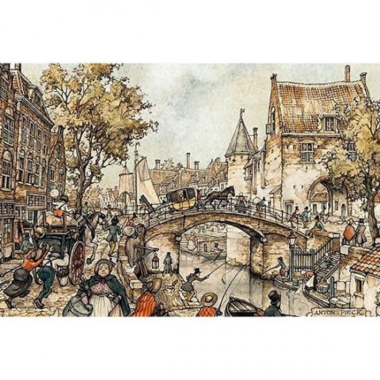 Puzzle 1000 pièces - Anton Pieck : Un carrosse sur le pont - Jumbo-17066