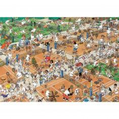 Puzzle 1000 pièces - Jan Van Haasteren : Court de tennis