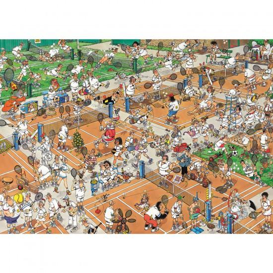 Puzzle 1000 pièces - Jan Van Haasteren : Court de tennis - Jumbo-17076
