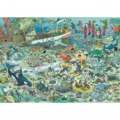Puzzle 1000 pièces - Jan Van Haasteren : Folie sous-marine
