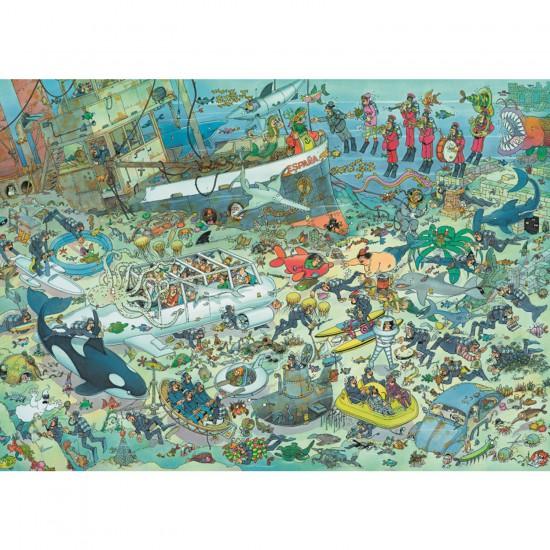 Puzzle 1000 pièces - Jan Van Haasteren : Folie sous-marine - Jumbo-617079