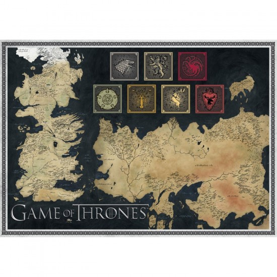Puzzle 1000 pièces : Carte de Game of Thrones - Jumbo-19317