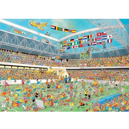 Puzzle 1000 pièces : Coupe du monde de football - Jumbo-19010