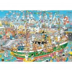 Puzzle 1000 pièces : Jan Van Haasteren : Chaos du grand voilier