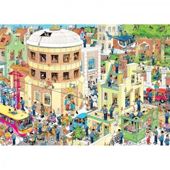 Puzzle 1000 pièces : Jan Van Haasteren : L'évasion - Jumbo-19013