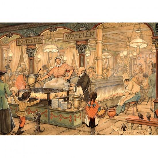 Puzzle 1000 pièces : Le stand de crêpes des Pays-Bas, Anton Pieck - Jumbo-17091