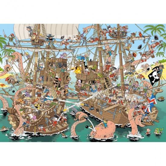 Puzzle 1000 pièces : Les pirates - Jumbo-19204