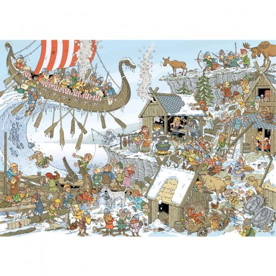 Puzzle 1000 pièces : Vikings - Jumbo-19201