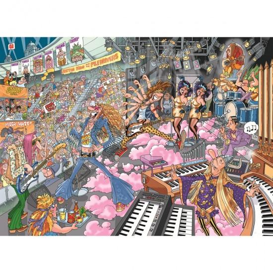 Puzzle 1000 pièces : Wasgij : Les rockeurs préhistoriques - Jumbo-19125