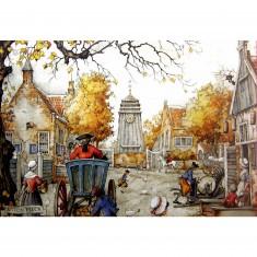 Puzzle 1000 pièces - Anton Pieck : La place du village