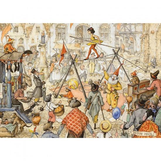 Puzzle 1000 pièces - Anton Pieck : L'équilibriste - Diset-Jumbo-17242