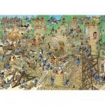 Puzzle 1000 pièces - Jan Van Haasteren : Le château en folie