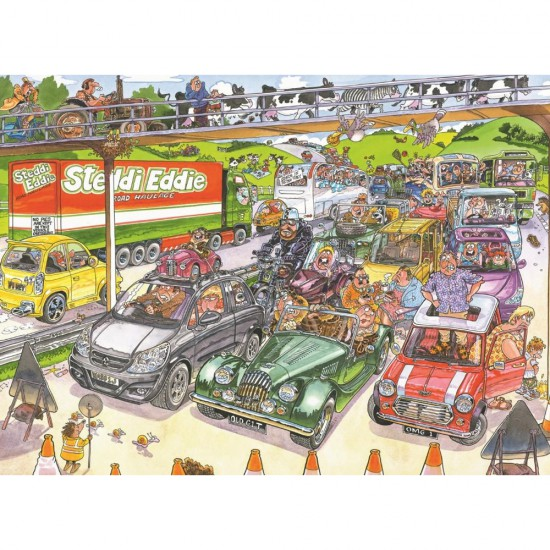 Puzzle 1000 pièces Wasgij : Congestion - Jumbo-17228