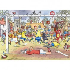 Puzzle 1000 pièces - Wasgij : Footballeurs en folie