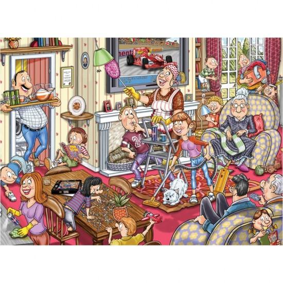 Puzzle 1000 pièces Wasgij : L'arrivée printemps - Jumbo-17406