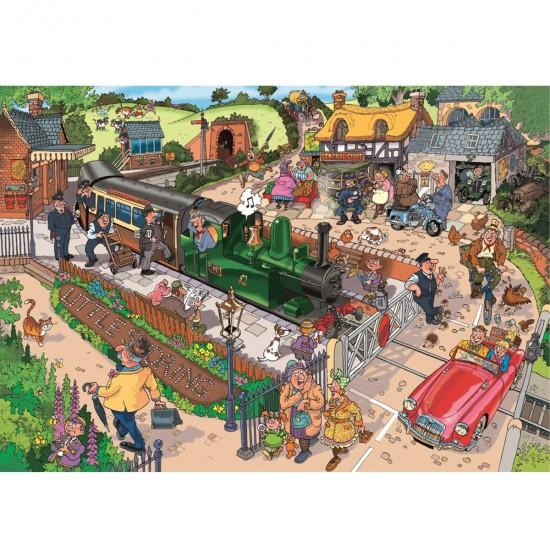 Puzzle 1000 pièces Wasgij : Les moyens de transport - Jumbo-17304