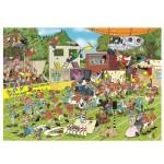 Puzzle 150 pièces : Jan Van Haasteren : Chaos sur le terrain