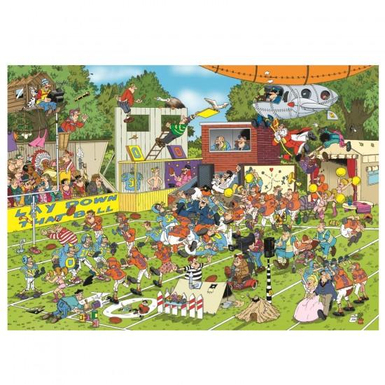 Puzzle 150 pièces : Jan Van Haasteren : Chaos sur le terrain - Jumbo-19020