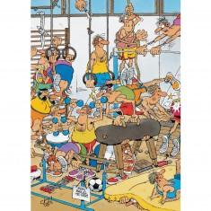 Puzzle 150 pièces : Jan Van Haasteren : Gymnastique