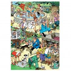 Puzzle 150 pièces : Jan Van Haasteren : S'amuser dans le parc