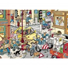Puzzle 150 pièces - Jan Van Haasteren : Faites place