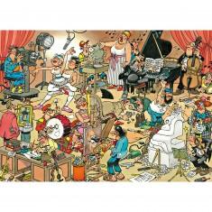 Puzzle 150 pièces - Jan Van Haasteren : Les artistes