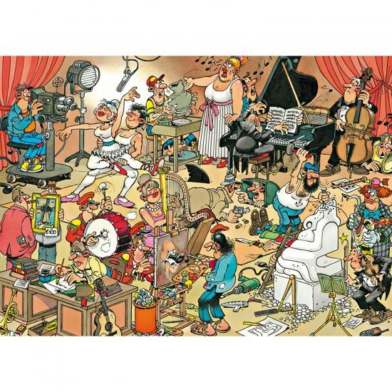 Puzzle 150 pièces - Jan Van Haasteren : Les artistes - Jumbo-617160