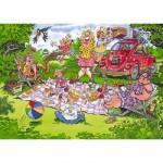 Puzzle 150 pièces - Wasgij : Panique au pique-nique