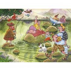 Puzzle 150 pièces - Wasgij Mystery : Panique sur le lac