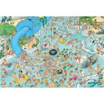 Puzzle 1500 pièces : A la piscine, Jan Van Haasteren