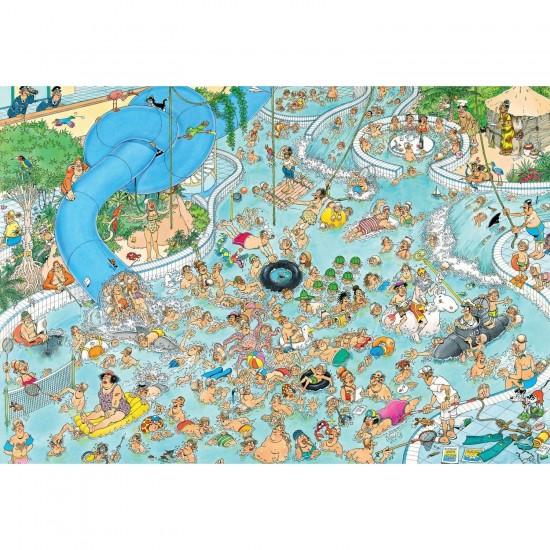 Puzzle 1500 pièces : A la piscine, Jan Van Haasteren - Jumbo-17314