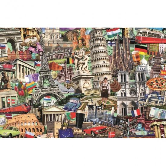 Puzzle 1500 pièces : Best of des villes européennes - Jumbo-18355