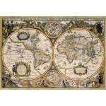 Puzzle 1500 pièces : Carte du monde de 1630
