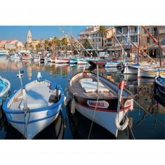 Puzzle 1500 pièces : Harbour, Sanary-Sur-Mer, France