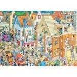 Puzzle 1500 pièces : Jan Van Haasteren : Le chantier