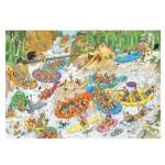 Puzzle 1500 pièces : Jan Van Haasteren : Rafting extrême
