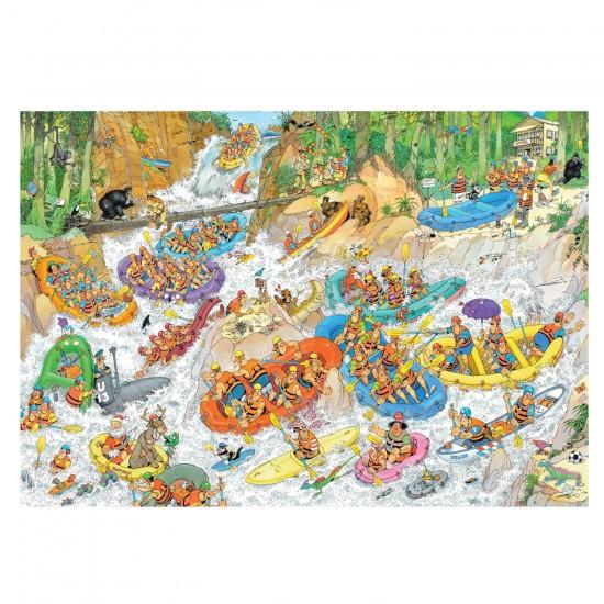 Puzzle 1500 pièces : Jan Van Haasteren : Rafting extrême - Jumbo-19015