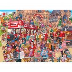 Puzzle 1500 pièces : Wasgij : Visite guidée aux studios Wasgij