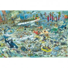 Puzzle 2000 pièces - Jan Van Haasteren : Folie sous-marine