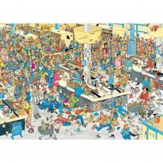 Puzzle 2000 pièces : Faites la queue, Jan Van Haasteren