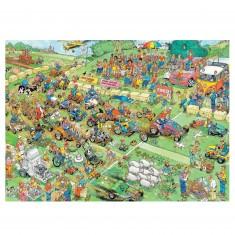 Puzzle 2000 pièces : Jan Van Haasteren : Course de tondeuses
