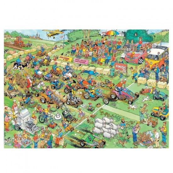 Puzzle 2000 pièces : Jan Van Haasteren : Course de tondeuses - Jumbo-19022