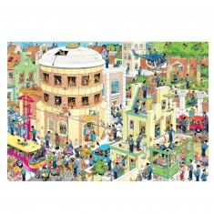 Puzzle 2000 pièces : Jan Van Haasteren : L'évasion