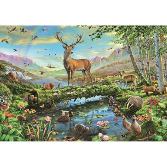 Puzzle 2000 pièces : La splendeur de la vie sauvage - Jumbo-18357