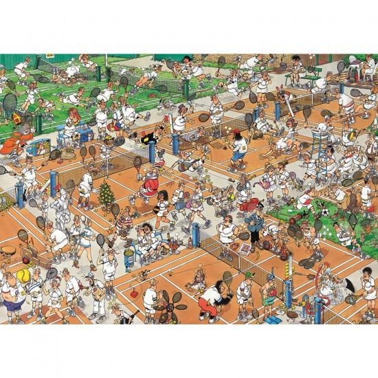 Puzzle 2000 pièces - Comic : Tennis - Jumbo-17075